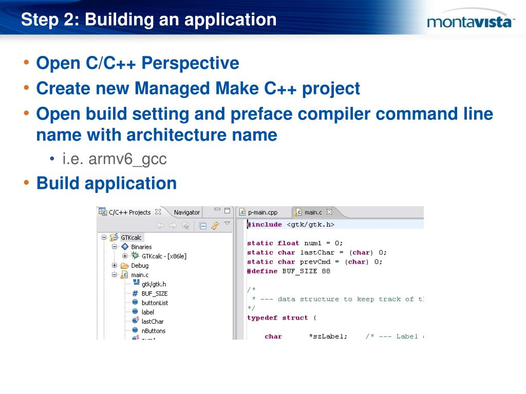 Step 2: Building an application