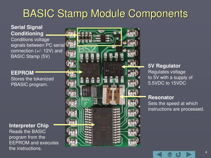 BASIC Stamp Module Components