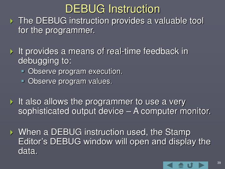 DEBUG Instruction