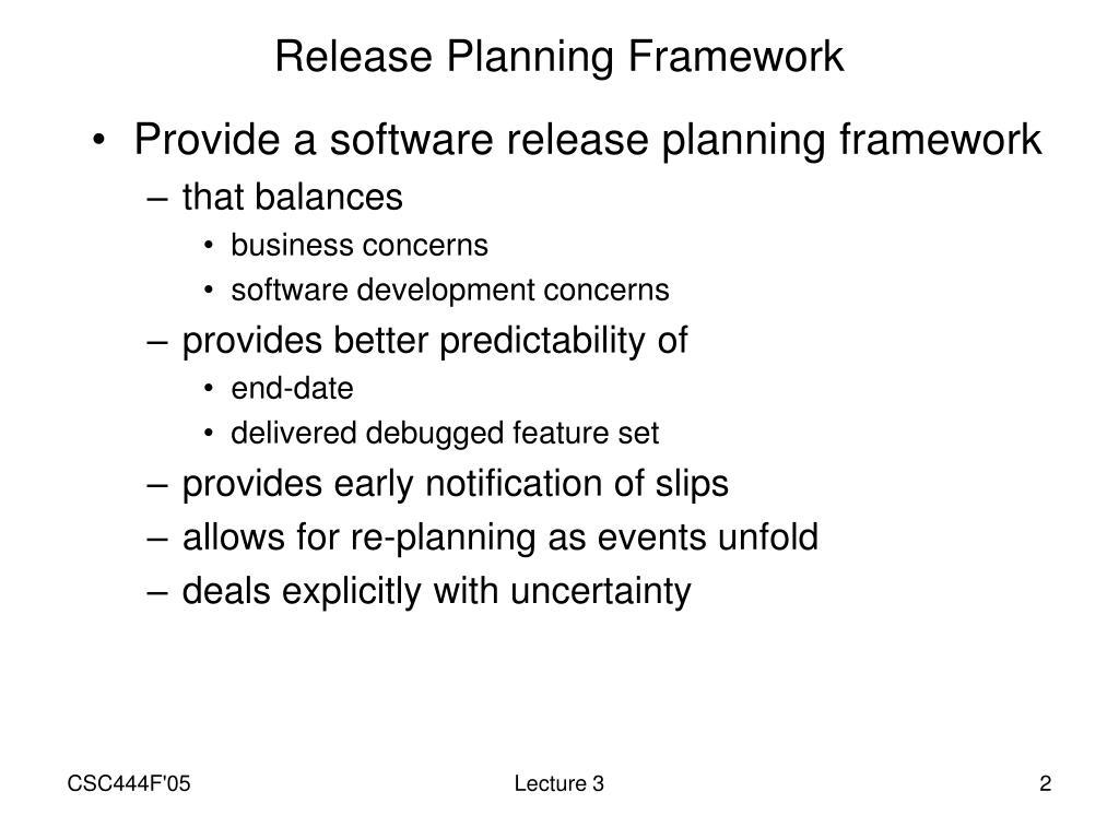 Release Planning Framework