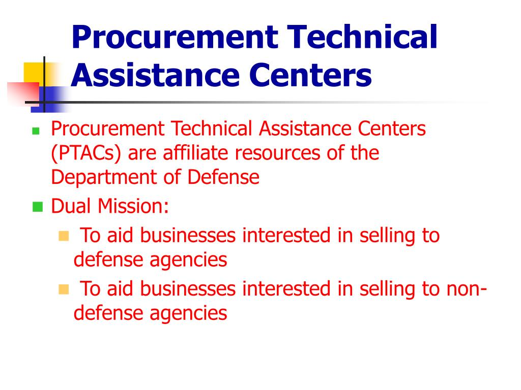 Procurement Technical Assistance Centers