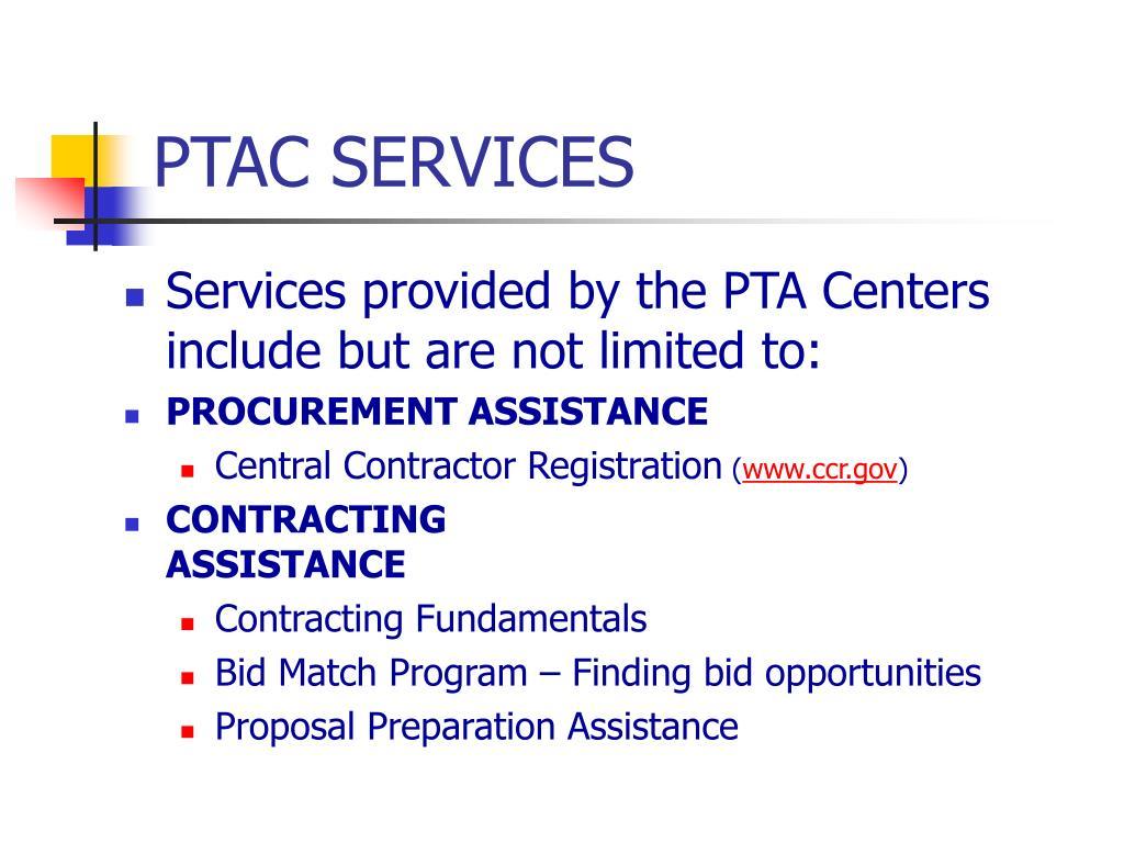 PTAC SERVICES