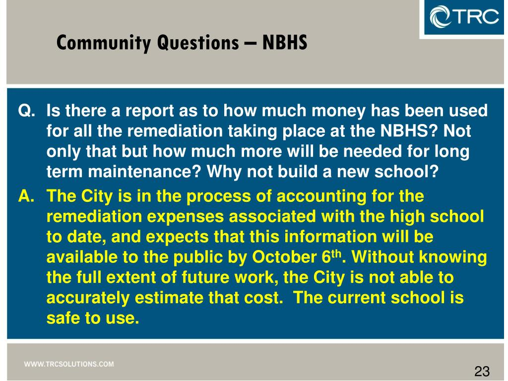 Community Questions – NBHS
