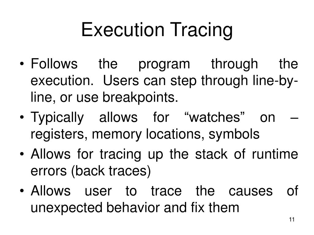 Execution Tracing
