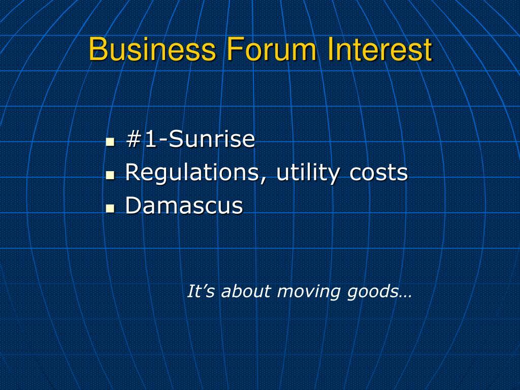 Business Forum Interest