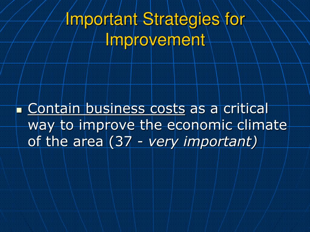 Important Strategies for Improvement