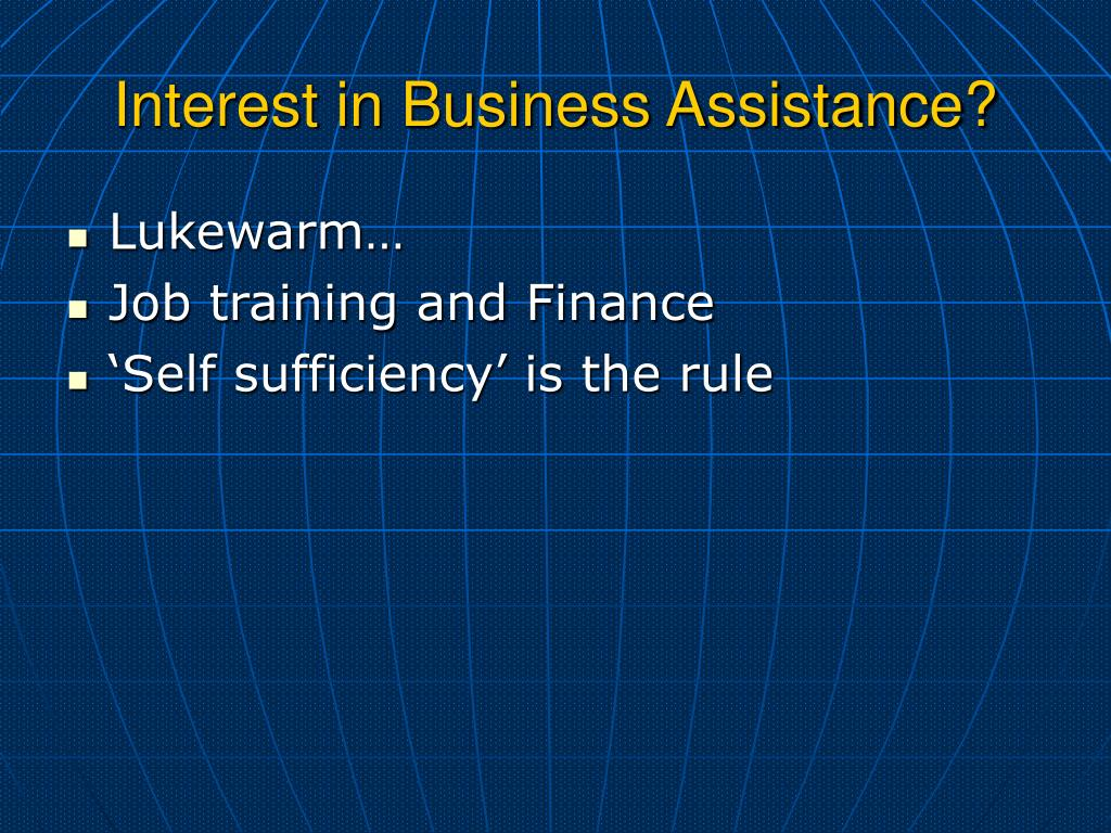 Interest in Business Assistance?