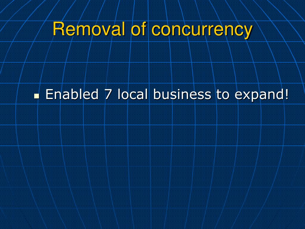 Removal of concurrency