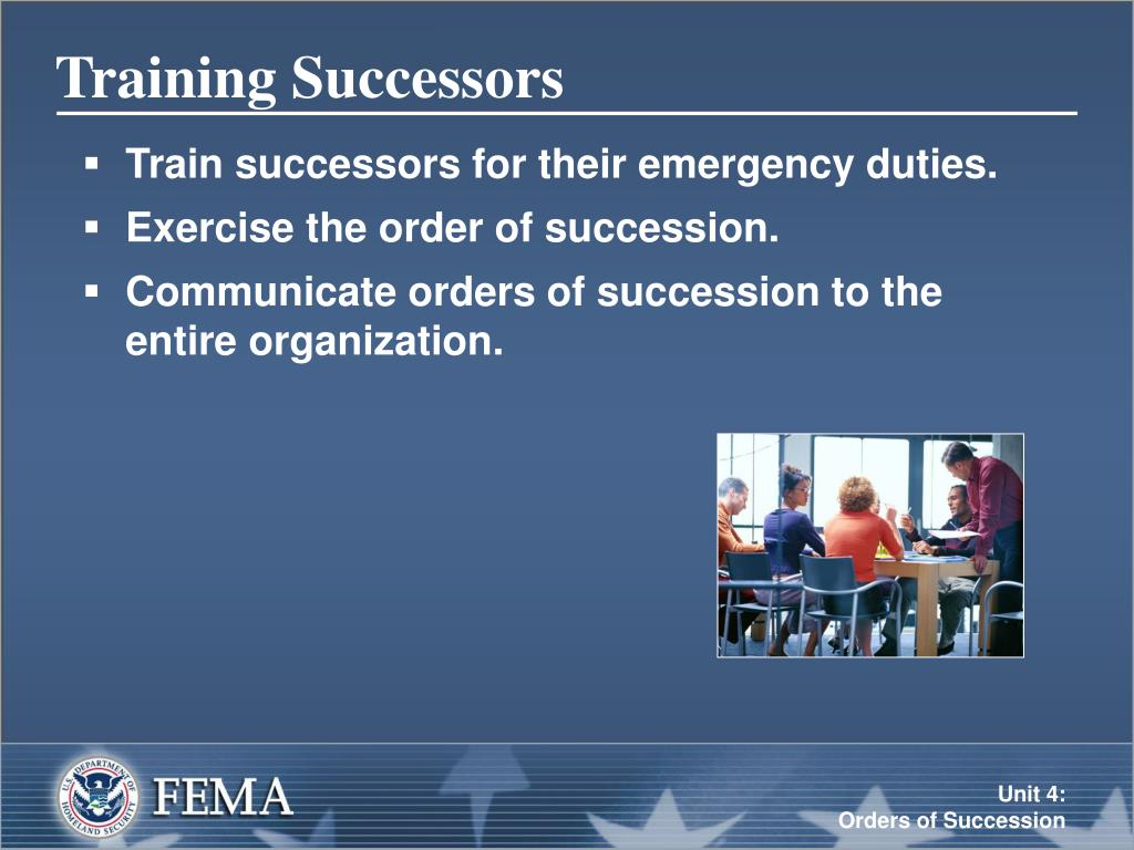 Training Successors