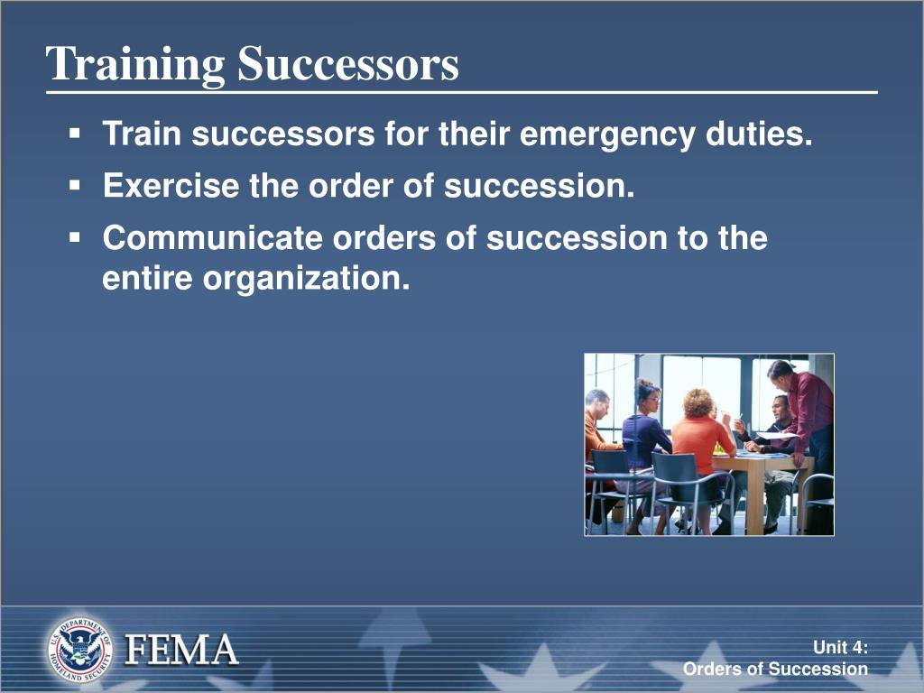 Training Successors