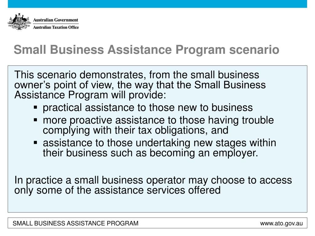 Small Business Assistance Program scenario