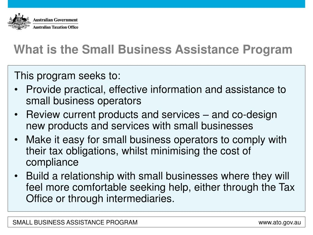 What is the Small Business Assistance Program