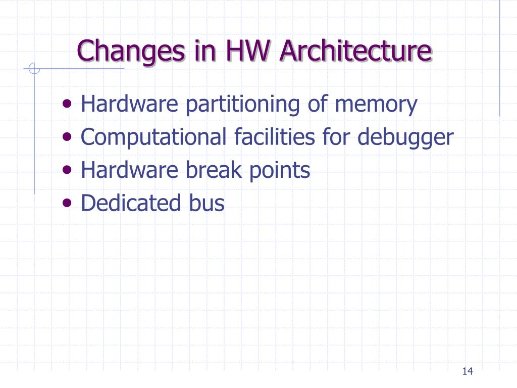 Changes in HW Architecture