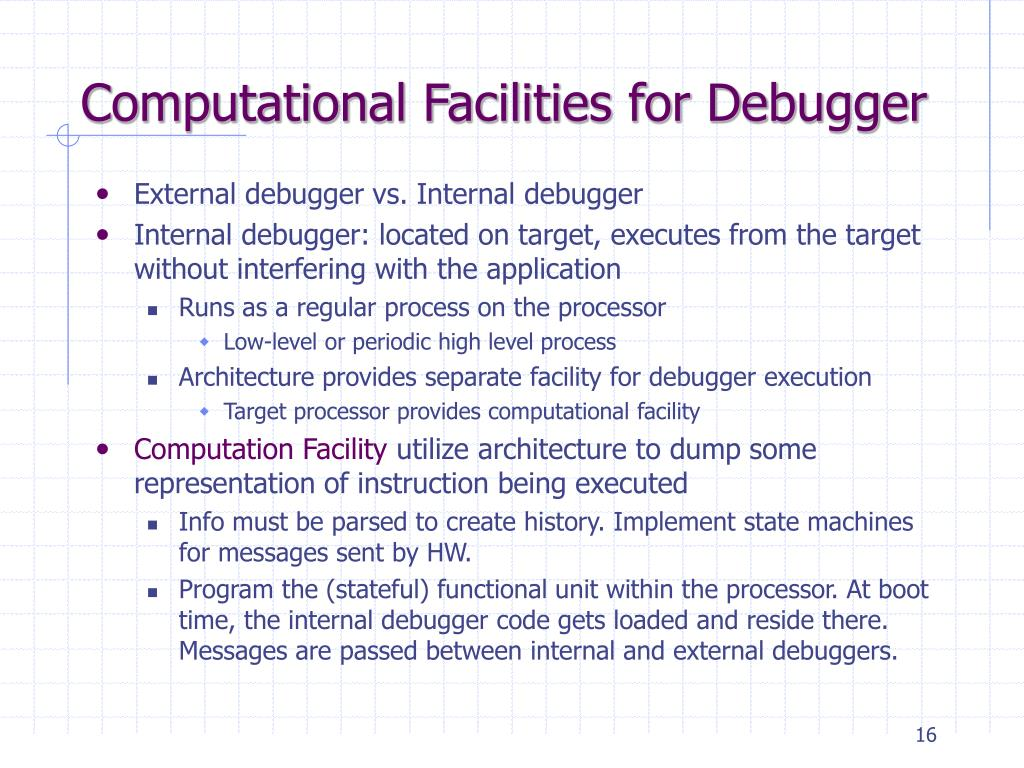 Computational Facilities for Debugger
