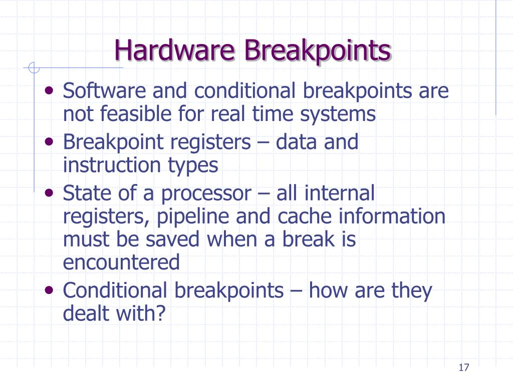 Hardware Breakpoints