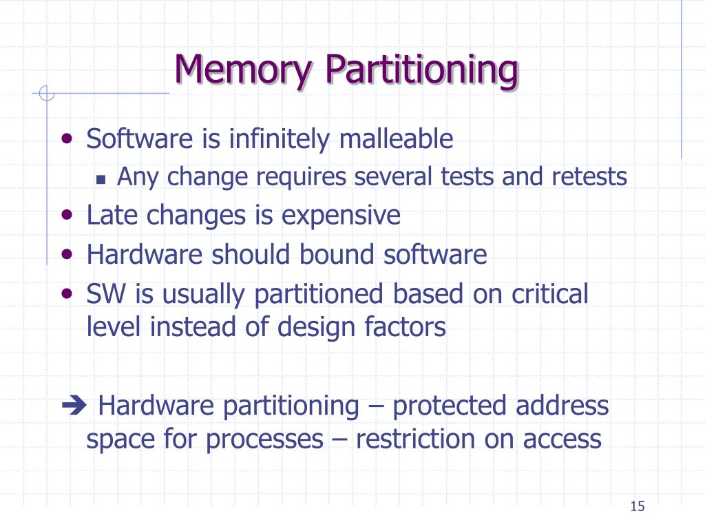 Memory Partitioning