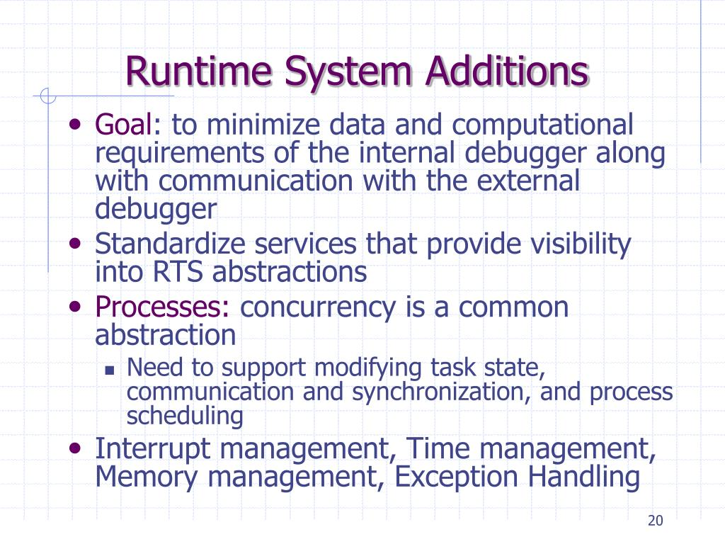 Runtime System Additions