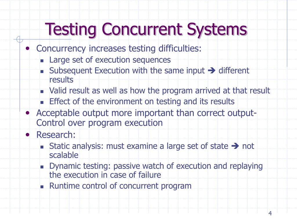 Testing Concurrent Systems