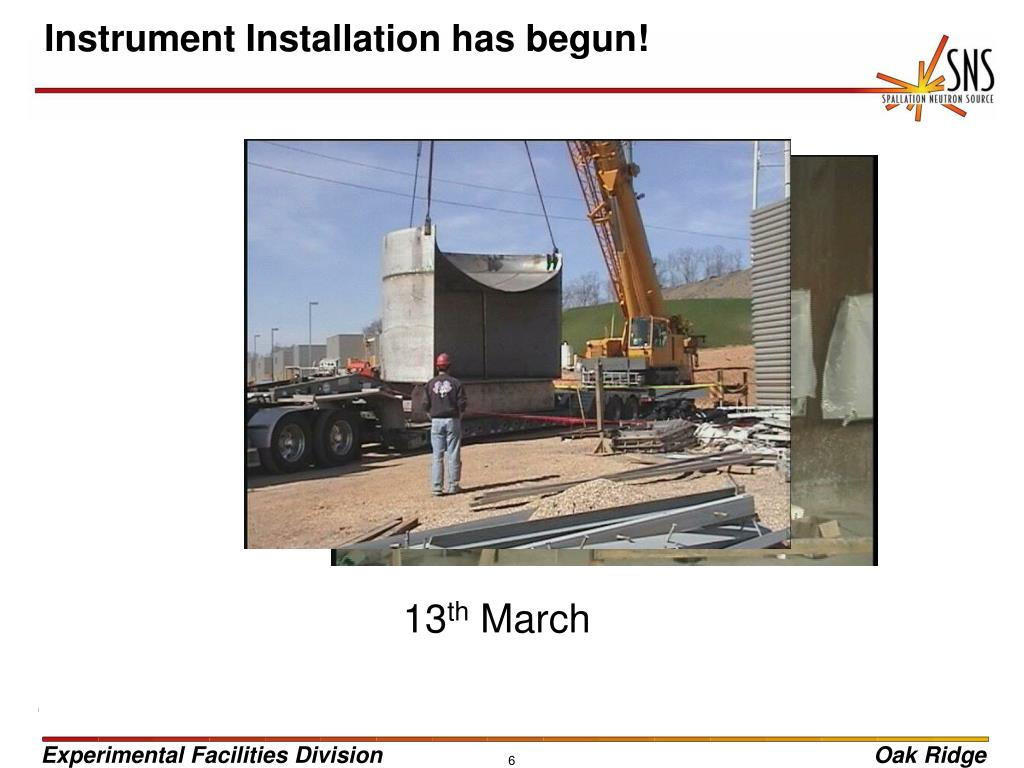 Instrument Installation has begun!