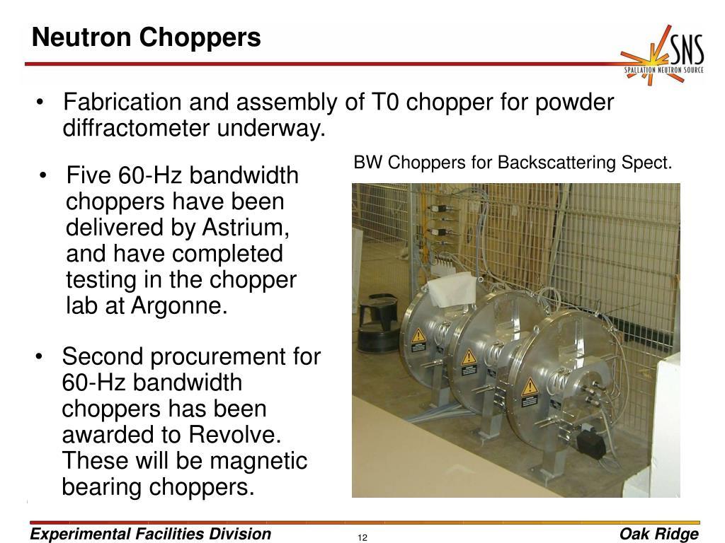 Neutron Choppers