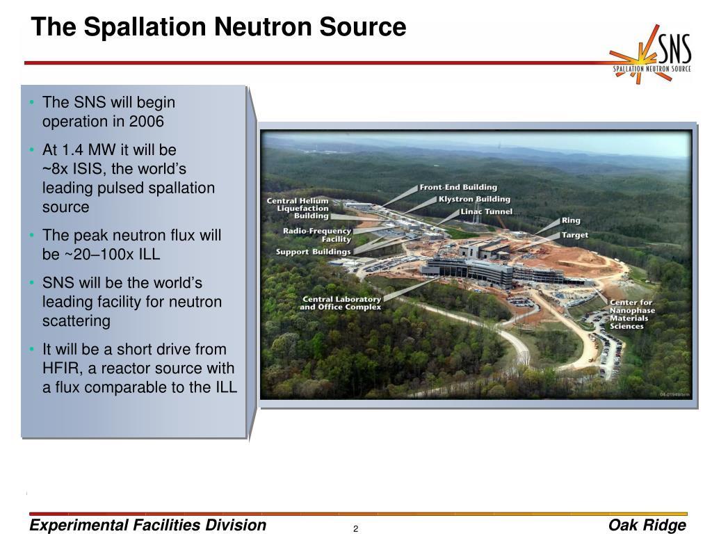 The Spallation Neutron Source