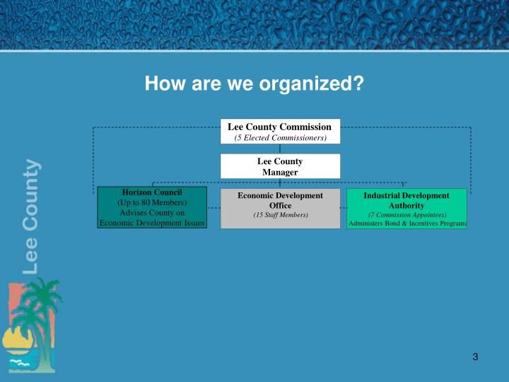 How are we organized