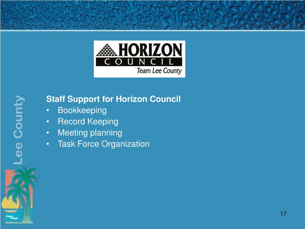 Staff Support for Horizon Council