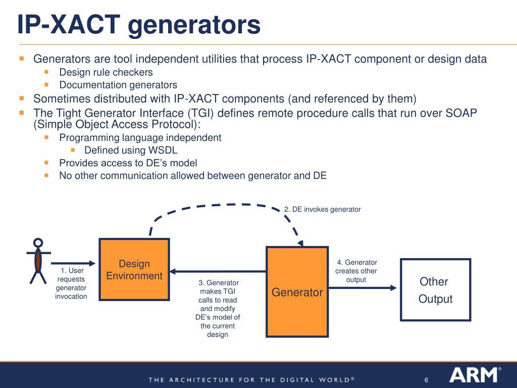IP-XACT generators