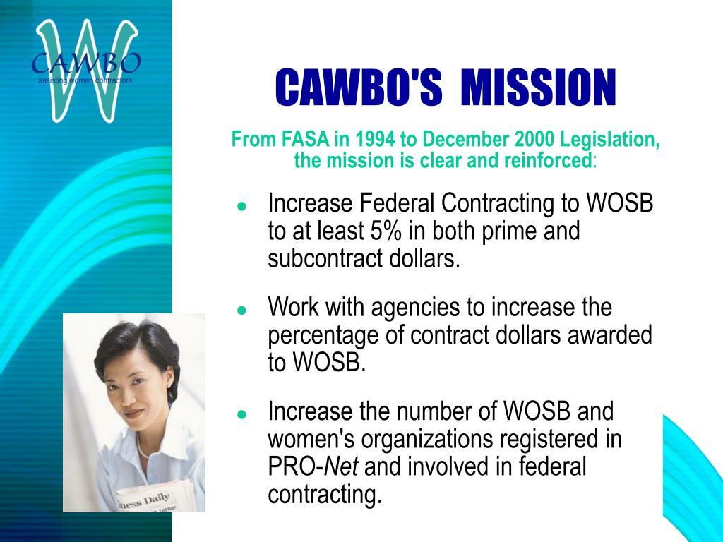 CAWBO'S  MISSION