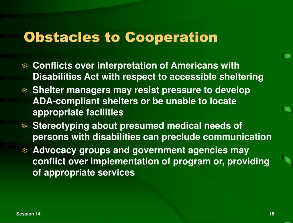 Obstacles to Cooperation