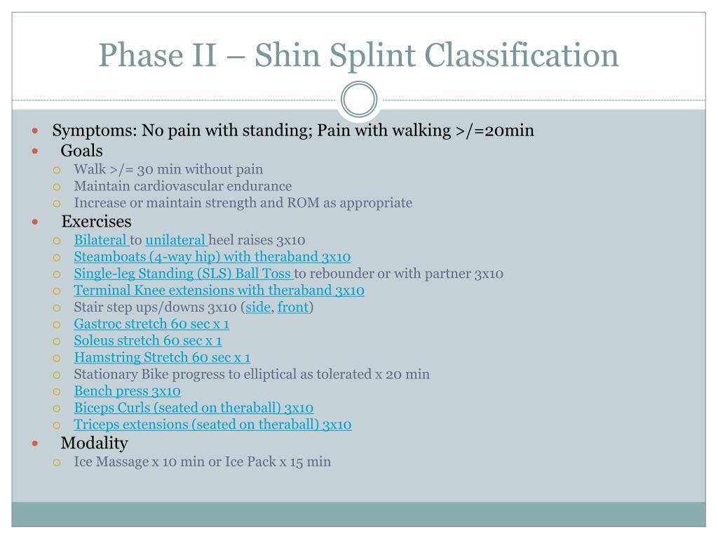 Phase II – Shin Splint Classification