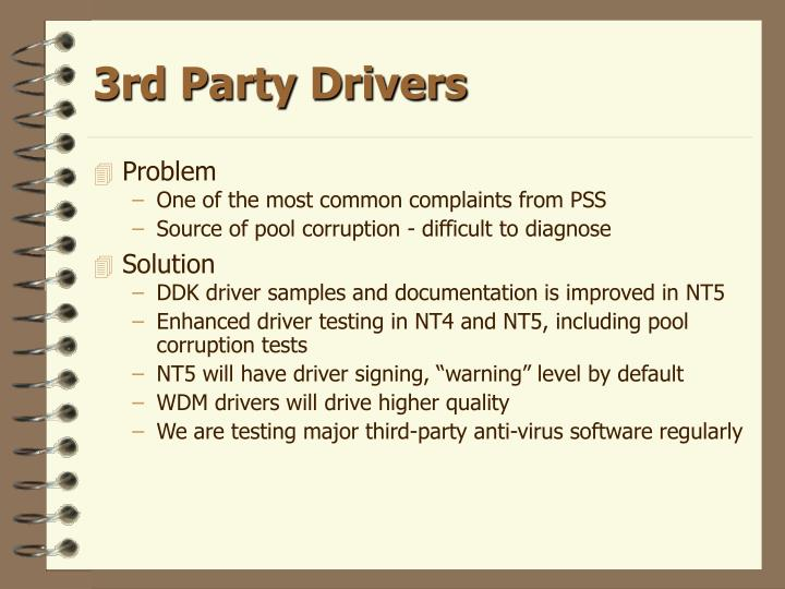 3rd Party Drivers