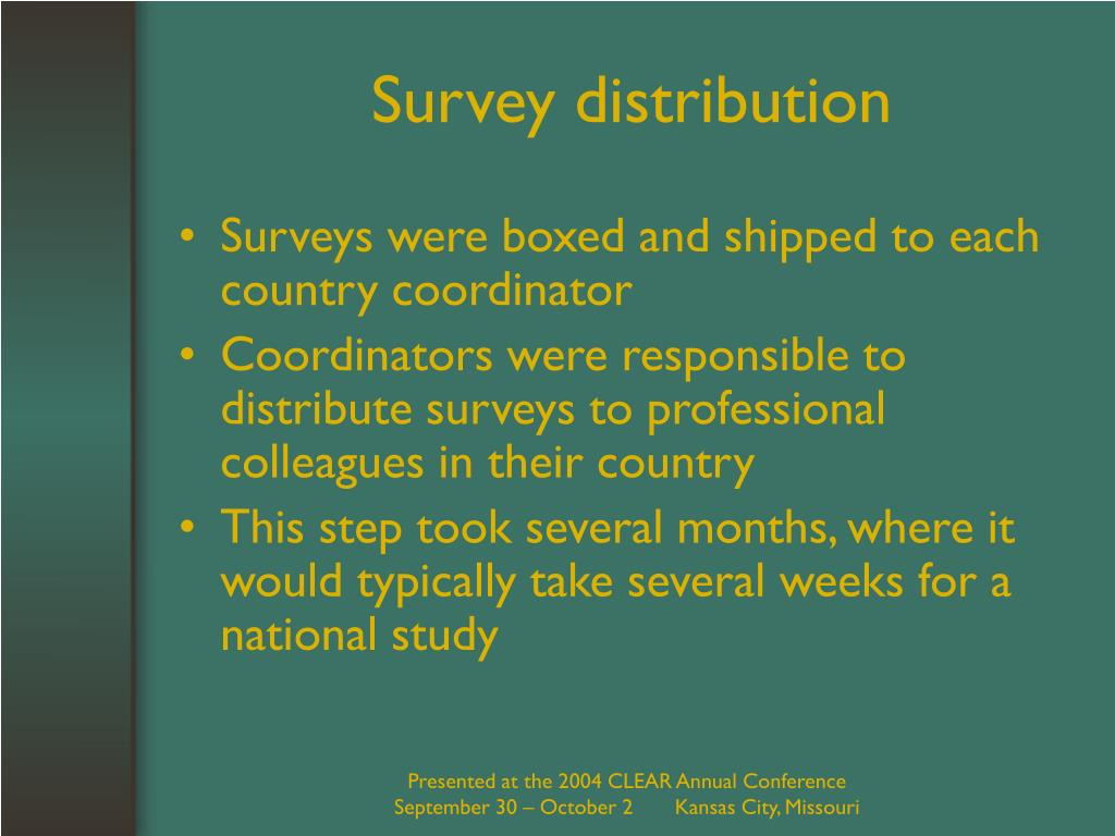 Survey distribution