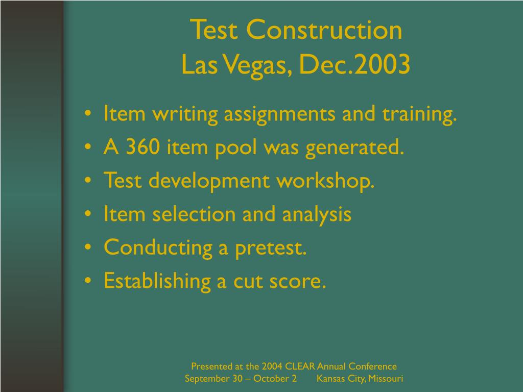Test Construction