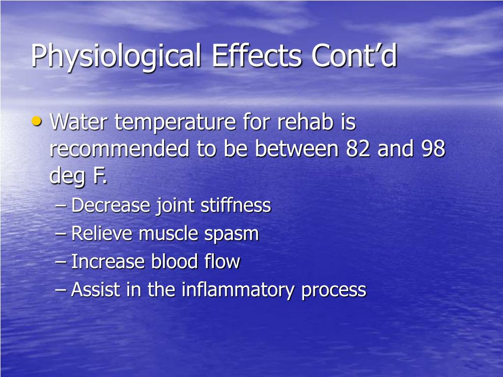 Physiological Effects Cont'd