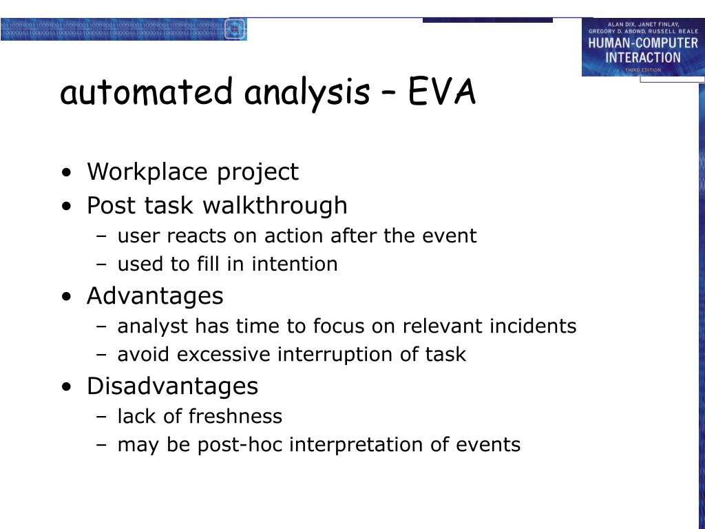 automated analysis – EVA