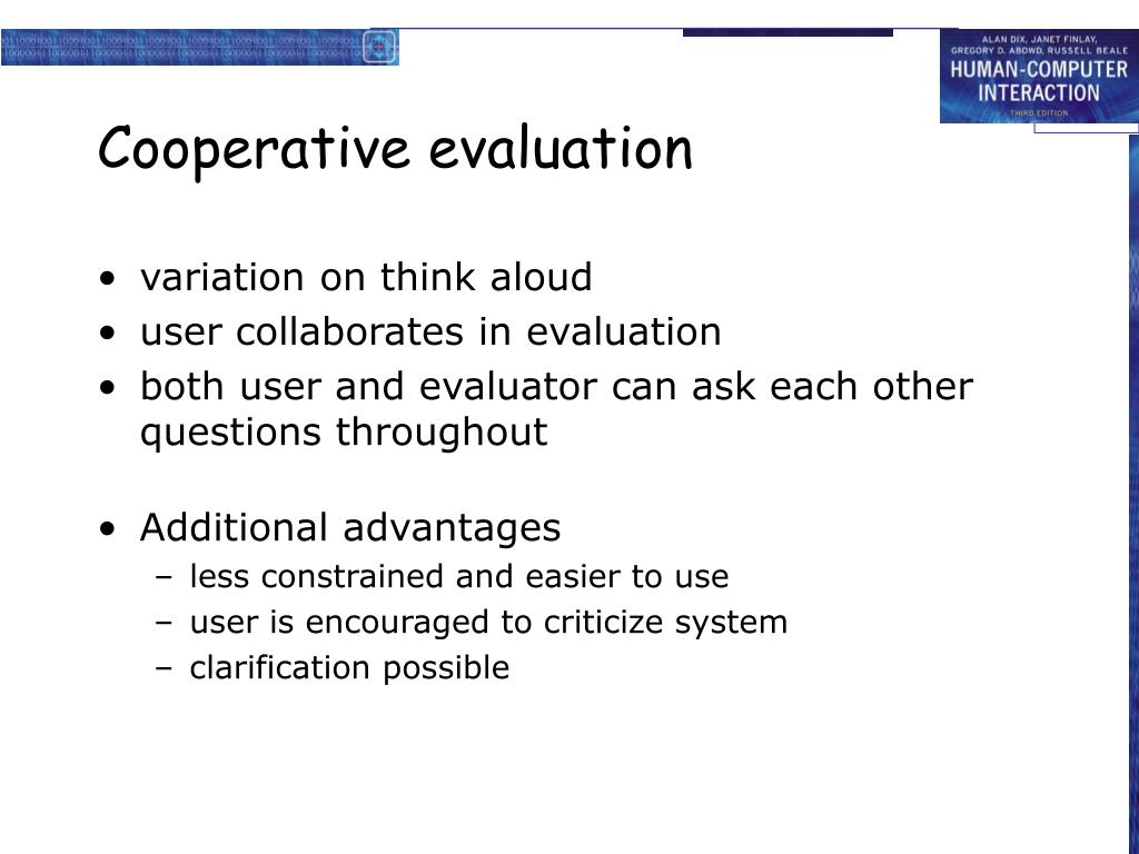 Cooperative evaluation