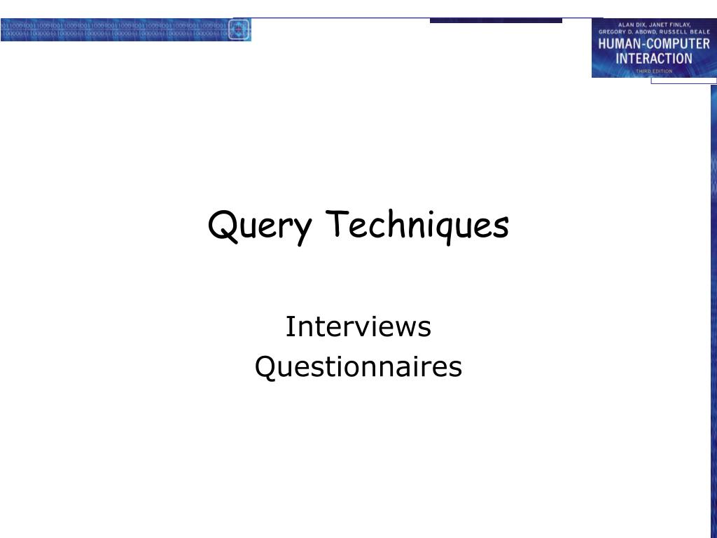 Query Techniques
