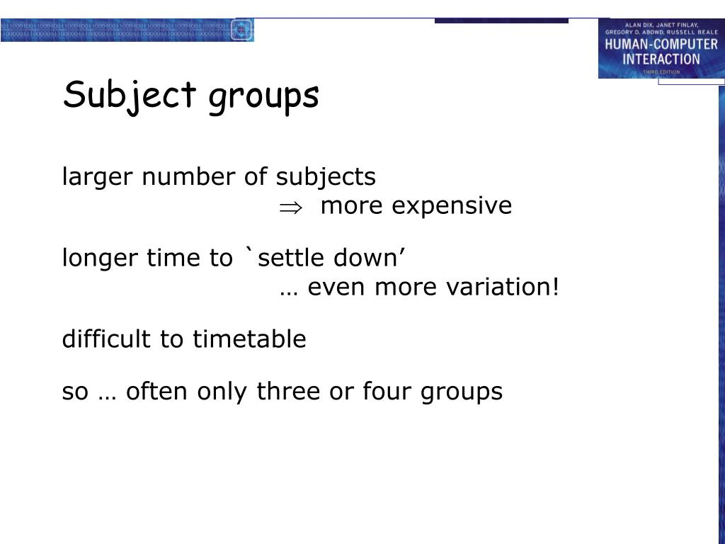 Subject groups