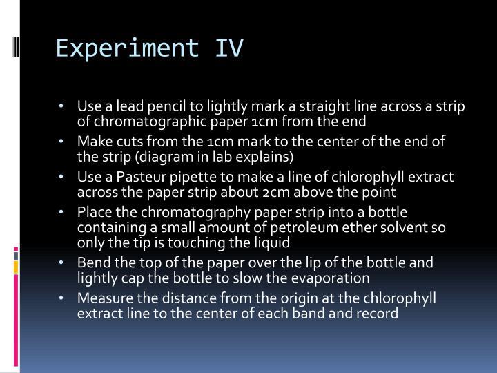 Experiment IV