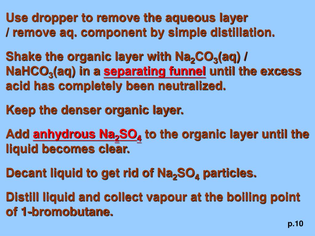 Use dropper to remove the aqueous layer