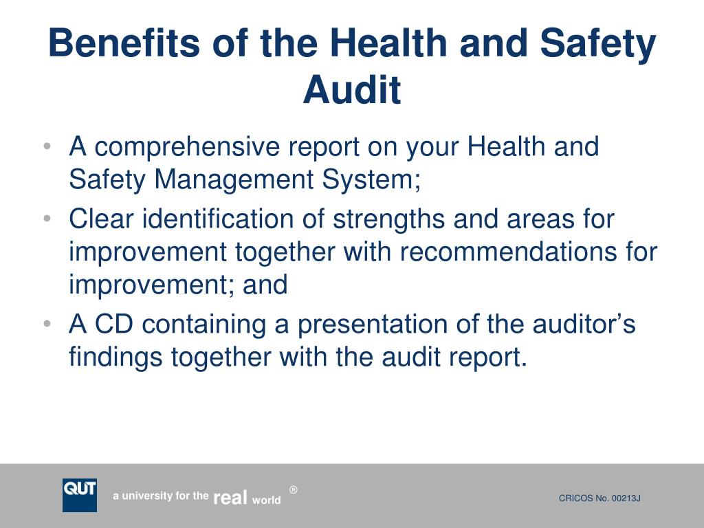 Benefits of the Health and Safety Audit