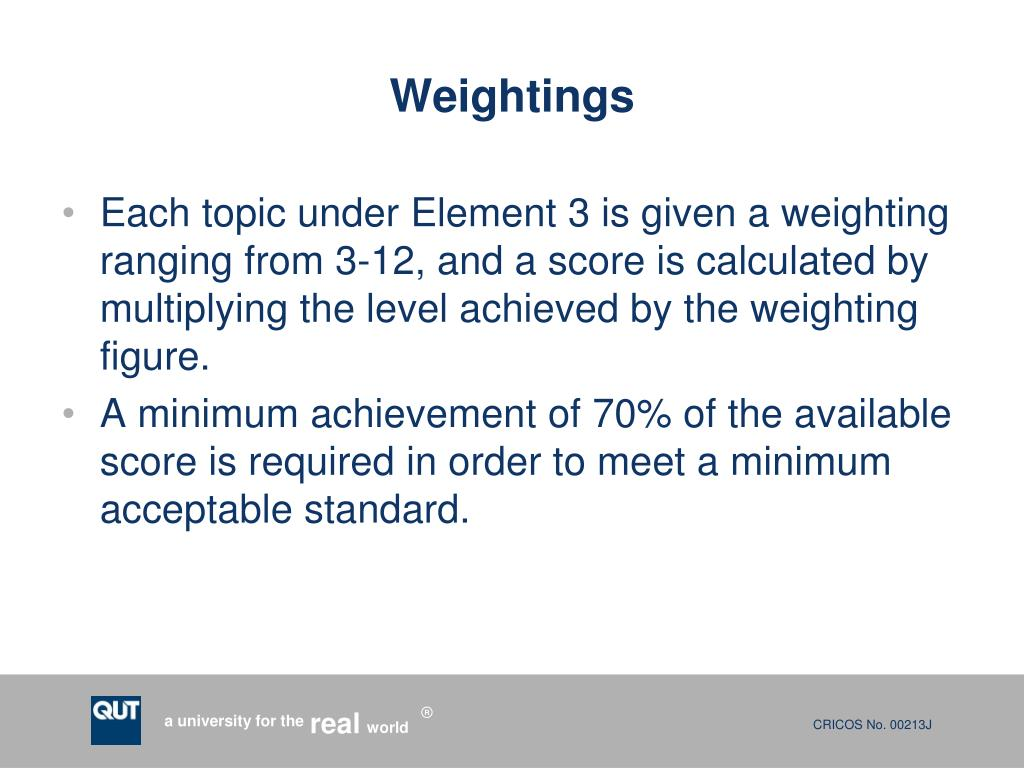 Weightings