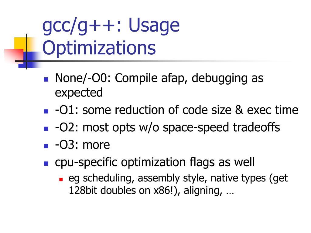 gcc/g++: Usage