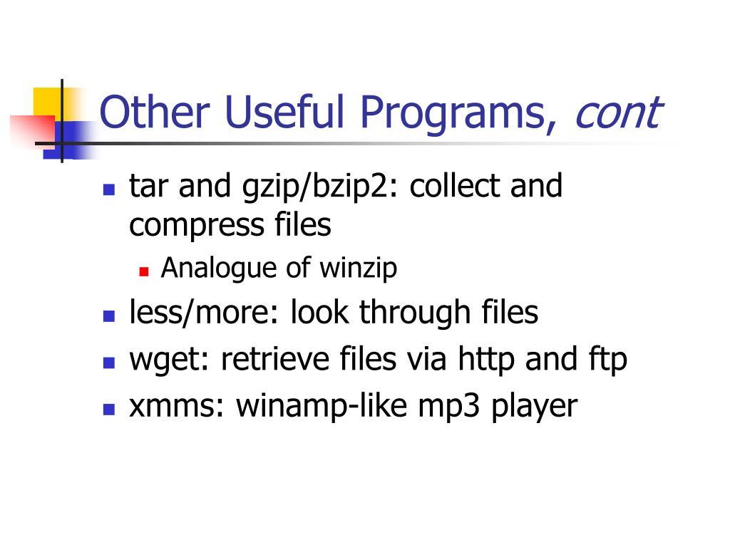 Other Useful Programs,