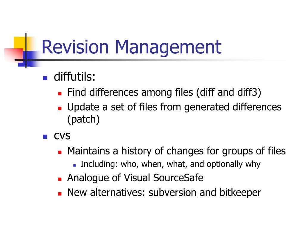 Revision Management