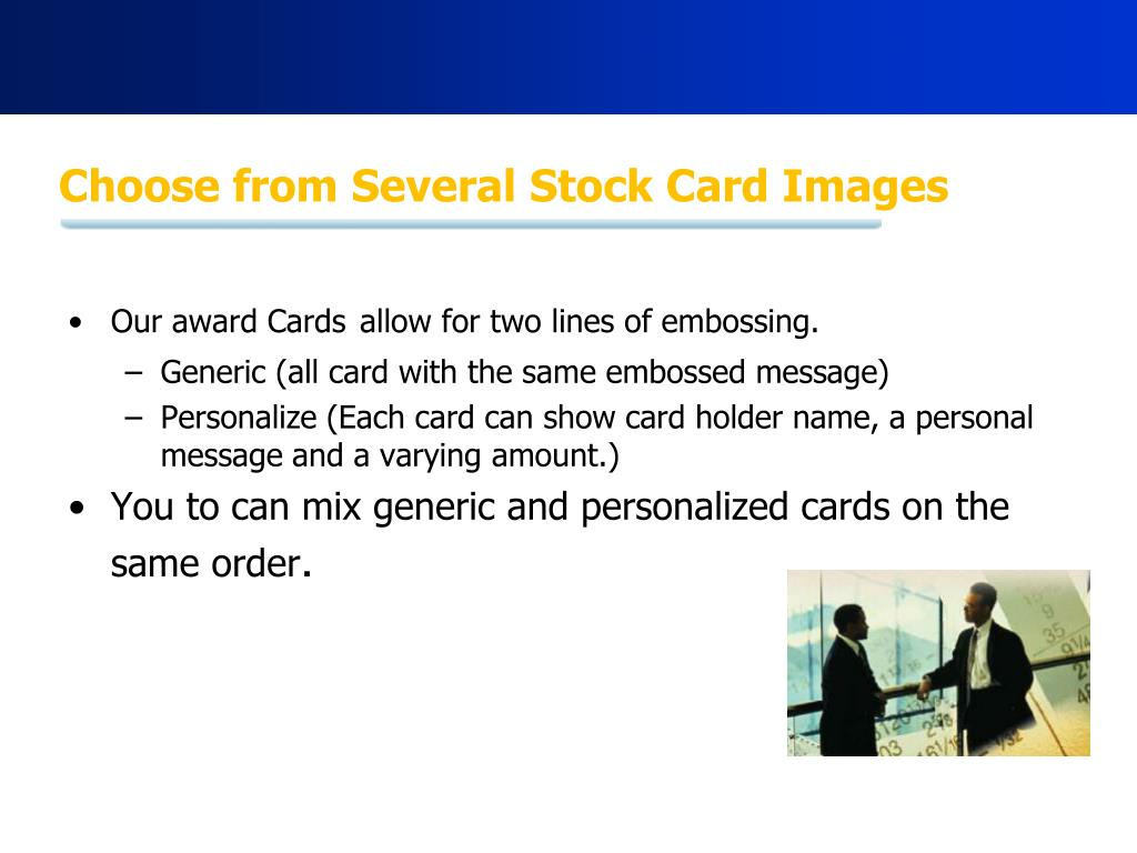 Choose from Several Stock Card Images