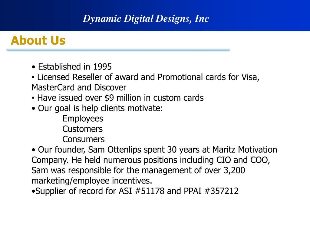 Dynamic Digital Designs, Inc