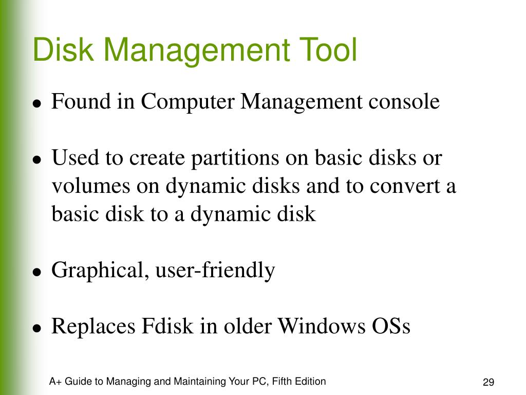 Disk Management Tool