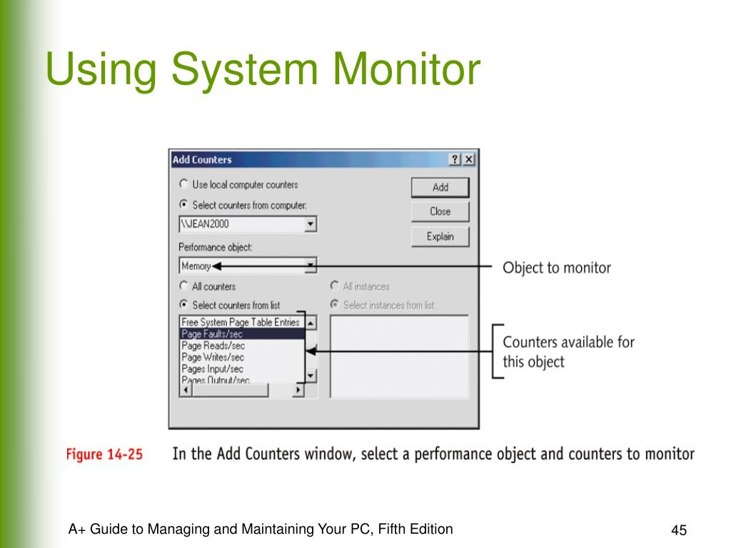 Using System Monitor